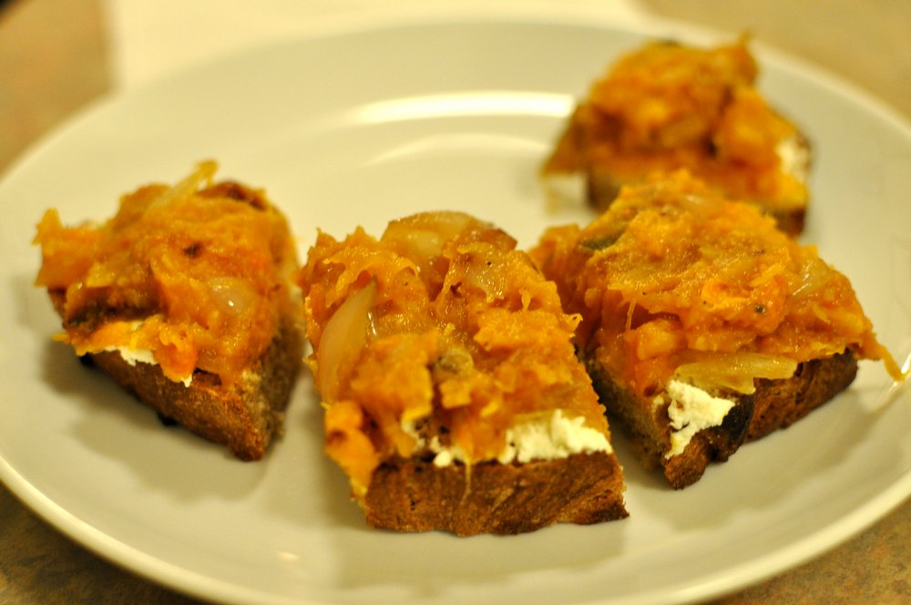 Dark Days: Crostini with Butternut Squash and Ricotta « EatLocal365