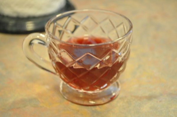 A tiny glass of punch