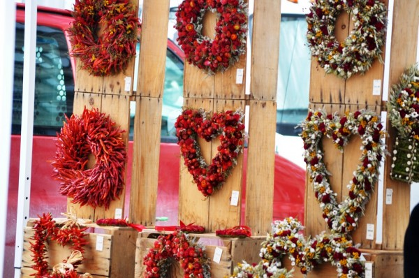 Valentines Day Wreaths at Union Square