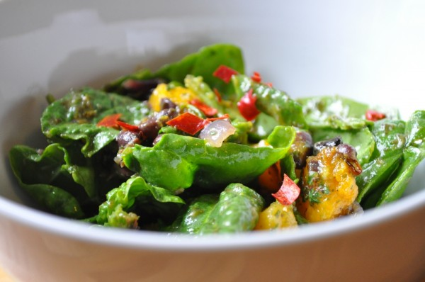 Roasted squash and black bean salad