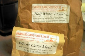 Flour and corn meal