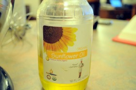 Local sunflower oil