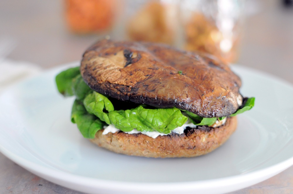 Portobello Mushroom Burger Recipe — Dishmaps