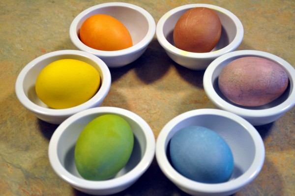 Every color of the egg rainbow!