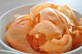 Yellow onion skins = orange