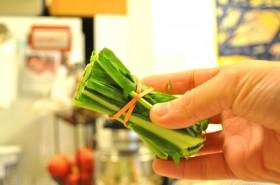 Cut-off kale stems