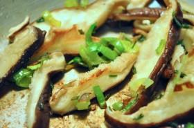 Mushrooms, leeks, and chives