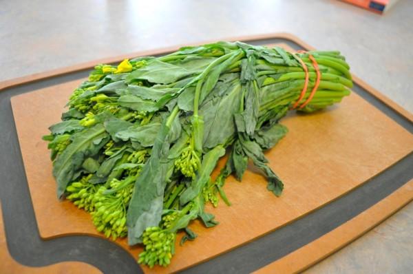 A nice bunch of broccoli raab