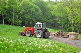Rainy tractor