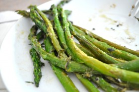 Braised asparagus with dijon and thyme