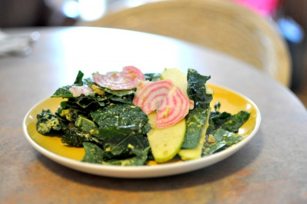 Kale Salad with Apple and Beet