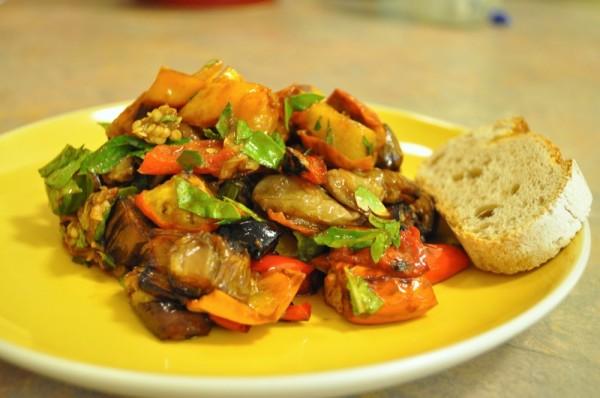 Umami Eggplant Salad