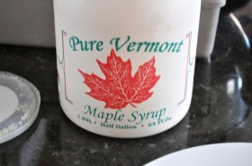 Local pure grade B amber maple syrup...mmm