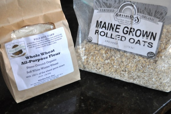 Local oats and local all-purpose flour