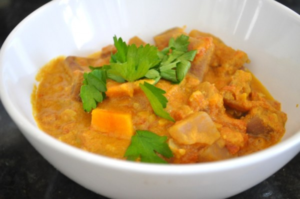 Potato peanut curry