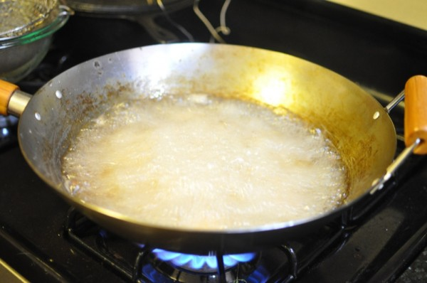 Frying at the hottest temperature
