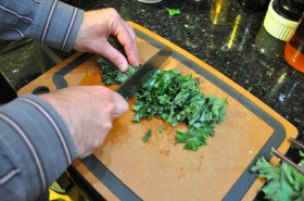 Ribbon the kale