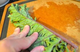 Fold the kale