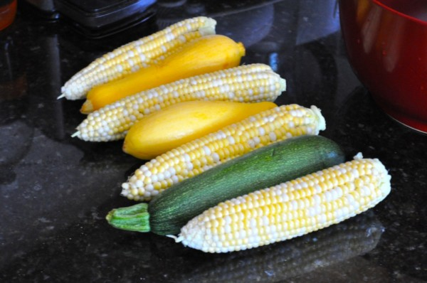Corn and summer squash