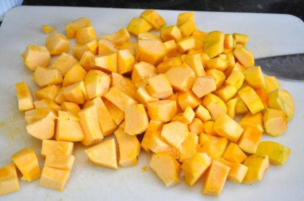 Acorn squash chunks