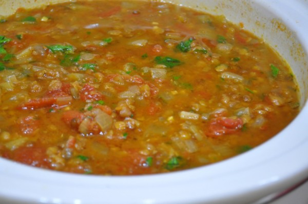Lentil soup close-up
