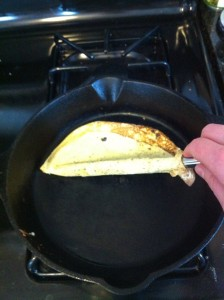 Flipping the crepe