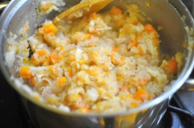 Mashed root vegetables